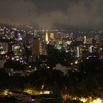 Medellin at night, from the hotel room