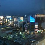 Evening view over Shibuya (22nd floor)
