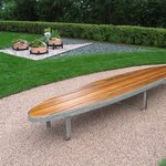 "A cool ""Surfboard"" bench"