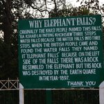 How it became Elephant Falls from its local name.