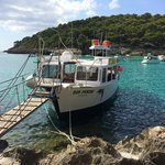 Docked at the secluded beach