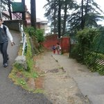 Walk from the villa to reach the stretch which goes to Mall Road (quite steep)