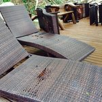 All the lounge chairs are in tatters.  Junky!