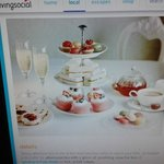 This is the advert for the Afternoon tea .Completely different to hotel presentation!