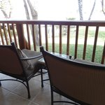 Balcony with chairs to relax and look out at the Zambezi River