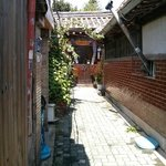 Alleyway to entrance