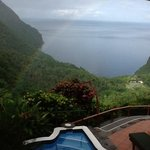 A rainbow view from our room at Ladera