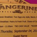 Free Breakfast Coupon you paid $21.00 for