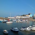 Tenby Harbour, a few minutes walk away.