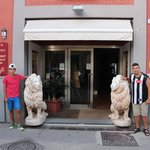 Entrance with our mascot Lions