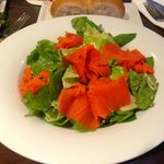 Smoked salmon caesar salad. Delicious!