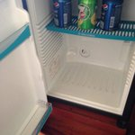 empty and dirty minibar