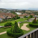 Gardens and Pamplona in the background