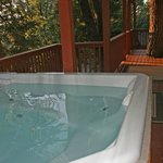 Enjoy our hot tub for 6 after a long day of hiking. Hot tub is serviced daily.