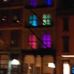 Apartment with pretty lights across from hotel
