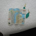clever room key holder with attached map