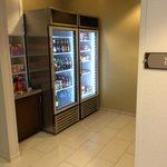 Snack area by front desk
