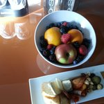 fresh fruit and cheese from my VIP welcome