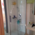 Huge walk in shower with a window to see into your bedroom - Room 503
