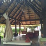 "Lovely ""chillaxing"" area...comfy bean bag chairs and hammock! Could have spent the whole day the"