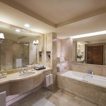 All marble bathroom and separate shower