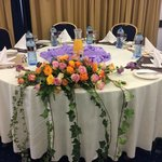 Example Table Setting from the Wedding