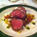 Lamb with tomatoes, squash, and feta cheese
