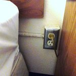 Electrical Plug by bed
