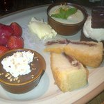 Dessert platter - described by the owners as 'to die for'. Fantastic
