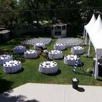 Backyard - Wedding Setup In Progress (both ceremony and reception done at the Blackwell)