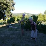 Playing boules at La Campagne Berne