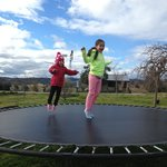 The girls loved the super large trampoline