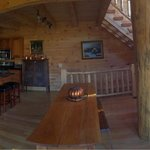Panoramic of first floor of The Barn at Pumpkin Ridge