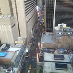 Time Square/Broadway one block away