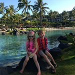 Kids at the salt water lagoon
