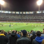 MCG Australian Rules Football game. Hawthorn vs Geelong Sept 5th 2014