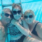 a selfie in the pool when we managed to get beds