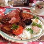 Liam's fabulous Irish breakfast. You certainly won't need for lunch, and maybe not for dinner ei