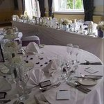 Elizabeth Suite set up for wedding breakfast