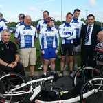 General Manager Barry Kennedy O'Loughlins Hotel with our partners Laois CTC