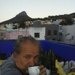 Coffee time - Sunrise on the Terrasse roof top