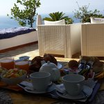 Breakfast on the terrace. Room number 5
