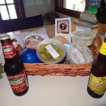 Our Welcome Basket from Sam& Jack's Deli.