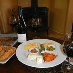Our welcome wine and cheese plate