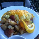 Ham and cheese omelette on The Veranda