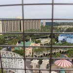View of Paradise Pier Hotel and Disneyland Hotel from Ferris Wheel