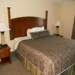 comfortable bed in one bedroom suite at Staybridge Suites, Reno