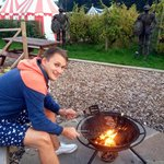 Fun using the fire pit!