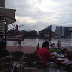 Inner Harbor view from J Paul patio.  Nice!!!