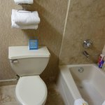 towel rack above toilet